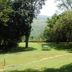 The lawns over-looking the valley