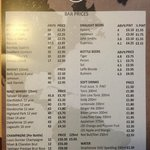 Bar & Drink Prices