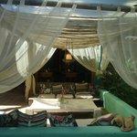 lounge proximo a area de refeição