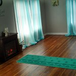 Serenity Yoga Studio. Yoga in the forest during the summer months!