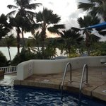 sunset from the 3 Tier Pools looking over Mamora Bay - great place to end the day