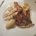 Trio of grilled fish