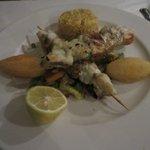 Monkfish brochettes
