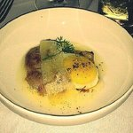 Wood grilled egg, pork porterhouse