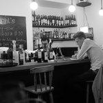 perched at the bar