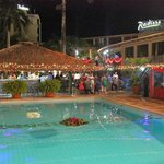 Colonial Pool at night