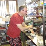 Salvatore making pasta