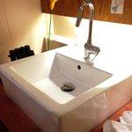 洗面スペースもシンプルで使いやすかったです