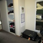 The entrance hall/bunk beds