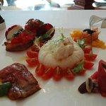 The Antipasti misti platter (Appetizers)