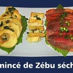 Emincé de zébu séché & fromage fondu....