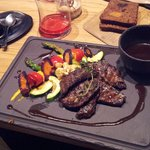 Venison with grilled vegetables