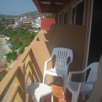Room 17 balcony and chairs. Nice to watch sunsets