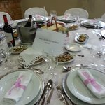nice and appealling decoration of the tables