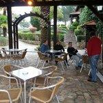 you can smoke outside the dinning room, enjoying the nice garden