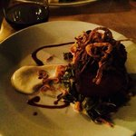 Short Ribs with Creamed Collards - outstanding meal at The Butcher The Baker!