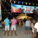 night beach party