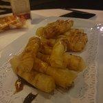 Crujiente de puerro con queso manchego y reducción al Pedro Ximenez