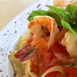 Pasta with Jumbo Shrimps
