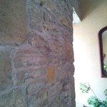 Hallway showing original stone walls