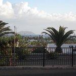 Uitzicht op Los Lobos en Fuerteventura vanaf bungalow 2A