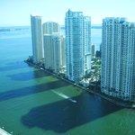 vista de Miami doquarto do Marriott