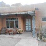 patio of our pueblo suite - ADA compliant
