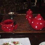 kids Tea served in a little tea pot