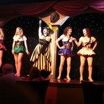 Servers/dancers and emcee at Treasure Tavern Dec 2013
