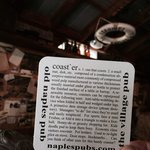 Old Naples Pub drink coaster