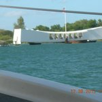 Arizona Memorial taken from the ferry boat
