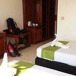 Our lovely room at Siem Reap Evergreen Hotel.