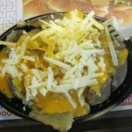 baked potato with cheese - potato not cooked cheese like an old tyre