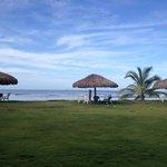 Vista de los ranchitos y la playa