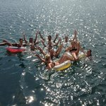 Floating in the Ocean During Our Boat Parties!