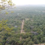 View from Sigiriya.  Check out the Buddah in the distance.