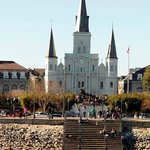 New Orleans Cathedral from the river