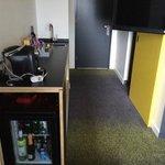 Kitchenette, Entry. Room 107