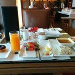 Breakfast buffet at floor 28.