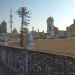 Vista panorámica desde la terraza hacia el centro histórico