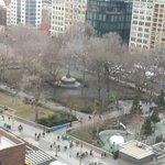 View of Union Square Park from the room