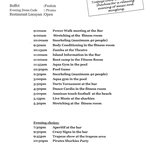 Sample daily program - don't mind the dress code, it's fun to comply but not mandatory!