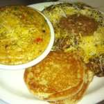 Weekend Special Omelet with Spicy Grits - Grits Available Friday - Sunday Only