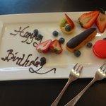 birthday fruit plate