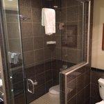 Suite A walk in shower (5 shower heads;))