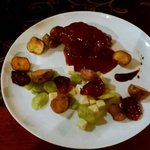 Lomo de cerdo en salsa de Guayambo y singanito