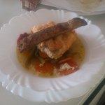 Trucha ahumada en salsa de escabeche