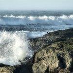 Crashing waves at Glass Beach