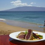 Fire grilled ahi and amazing ocean views