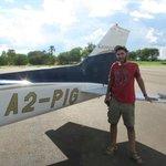 Amir Baer by the plane